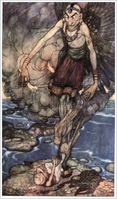 Dschinn - Illustration von Edmund Dulac, 1907